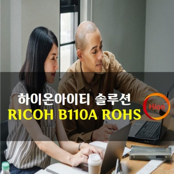 RICOH B110A ROHS(Restriction of Hazardous Substances Directive)