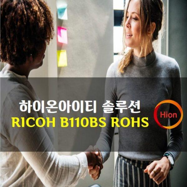 RICOH B110BS ROHS(Restriction of Hazardous Substances Directive)